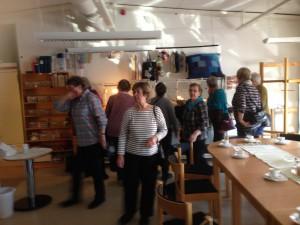 Rundvandring på textilverkstan